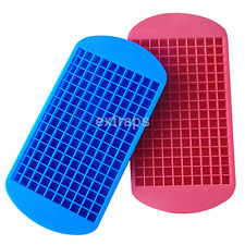 160 Ice Cubes Frozen Mini Cube Silicone Ice Mold Mould Tray Kitchen Tool US
