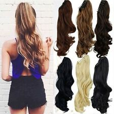 Clip In Ponytail Pony Tail Hair Extensions Piece Wavy Style Wrap/claw On Hair KH