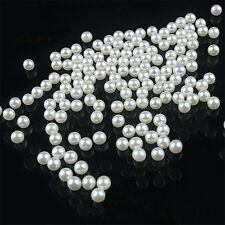 4-20mm Round Imitation Pearl Spacer Loose Beads DIY Jewelry Making Kit Sanwood