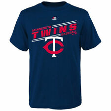 Minnesota Twins Majestic Youth Over A Barrell  T-Shirt - Navy