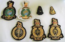 ROYAL MARINES GLOBE AND LAUREL BADGE - GOLD WIRE BLAZER OR MACHINE EMBROIDERED