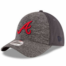 Atlanta Braves New Era Shadowed Team 39THIRTY Flex Hat - Graphite - MLB