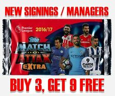 Match Attax Premier League EXTRA 16/17 - NEW SIGNINGS / MANAGER cards