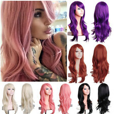 Women Fancy Dress Cosplay Full Wig Long Curly Hair Heat Resistant Synthetic Wigs