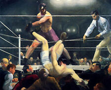 Dempsey and Firpo by G W Bellows (classic art print)
