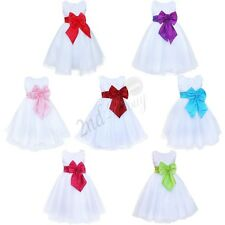 Flower Girl Pageant Party Formal Wedding Bridesmaid Princess Tutu Tulle Dress