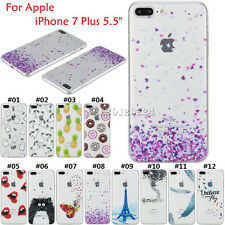 """Pattern Silicone Gel Clear Soft TPU Slim Case Cover For Apple iPhone 7 Plus 5.5"""""""
