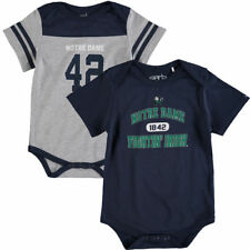 Notre Dame Fighting Irish Garb Infant Grb Tommy Two Pack Creepers - Navy