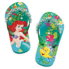 LITTLE MERMAID ARIEL DISNEY Flip Flops Beach Sandals w/ Optional Sunglasses NWT
