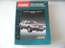 FORD MUSTANG 1989-1992 REPAIR MANUAL CHILTONS INCLUDES GT