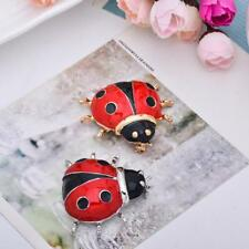 Cute Lady Bird Beetle Brooch Pin Unisex Animal Insect Lover Fashion Jewelry