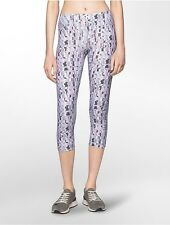 calvin klein womens performance abstract mesh cropped leggings