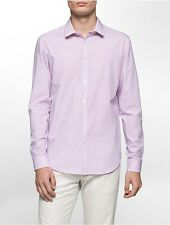 calvin klein mens slim fit infinite stretch dobby check shirt