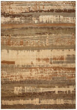 Rizzy Rugs Beige Distressed Faded Jagged Contemporary Area Rug Abstract BV3957
