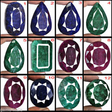 Wholesale Lot 4128.30 Ct/12 Pcs Rare Natural Ruby Emerald Sapphire Mix Gemstones