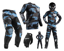 Thor Pulse Covert Motocross Combo with Cross pants Jersey Gloves black blue