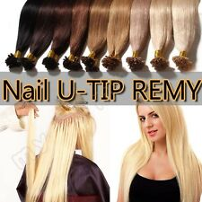 Remy Pre Bonded 100% Real human hair extensions 100G+ U Nail Tip US Seller II002