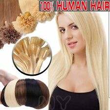US 100S 50G U Nail Tip Fab Remy Pre Bonded 100% Real human hair extensions II011