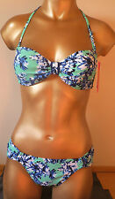 Striking Resort Padded Bandeau  Bikini Set Available in Sizes 12 & 14 - BNWT