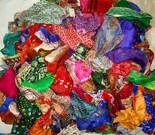 LOT PURE SILK Antique Vintage Sari Fabrics WEIGHT 100 GRAMS SIZES AS YOU #ABHML