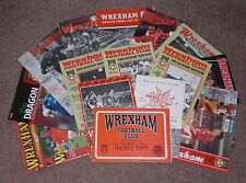 Wrexham HOME PROGRAMMES 1960s/ 1970s / 1980s / 1990s / 2000s  - Choose from list