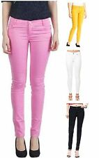Womens Skinny Jeans Stretchy Ladies Fit Jeggings Coloured Trousers