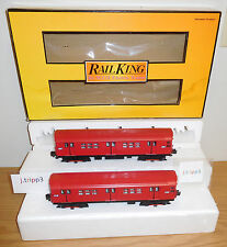 MTH 30-2392-3 REDBIRD R-17 2-CAR SUBWAY TRAIN O GAUGE NEW YORK BROOKLYN MTA NYC