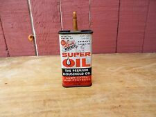 Vintage Liquid Wrench Super Oil Tin Can Empty Oil Tin Can 3 FL oz Red & White