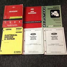 1994 FORD MUSTANG Service Shop Repair Workshop Manual Set W Supplement + TSBS