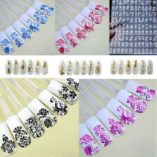 Nail Art Stickers Nail Water Decals Nail Transfers Lace Flowers Floral kf lbienB