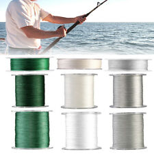 3 Colors 12LB-100LB 4 Strands Weaved Braided Fishing Line Wire 100m 300m 500m DH