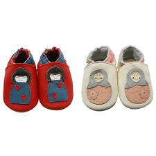 Sayoyo Soft Leather Sole Moccasins Crib Cartoon Toddler Girl Slip On Baby Shoes