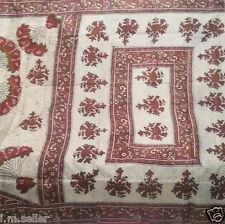 ANTIQUE VINTAGE PURE SILK FABRIC 5 YARD PRINTED INDIAN SARI SAREE