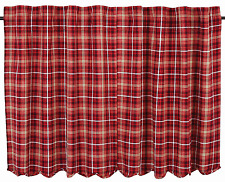 Braxton Plaid Tiers Pair in Apple Red, Natural and Ebony, Choice of Two Sizes