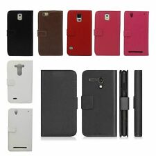 PU Leather Filp Wallet Card Solt Pouch Holder Stand Case Cover For Smart Phones