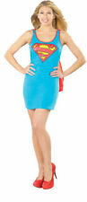 Sexy Supergirl Super Girl Superman Superhero Tank Dress Adult Womens Costume