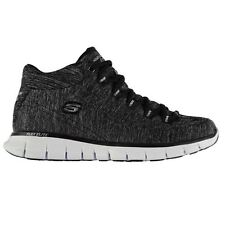 Skechers Womens Synthetic Half Runners Lace Up Hi Top Running Training Shoes