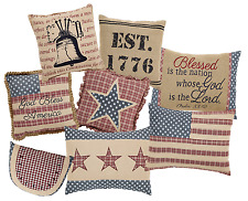 Independence Patriotic Decorative Pillow Collection, Choice of 8 American Styles