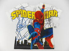 Marvel Spiderman T-Shirt Short Sleeves White Size 2T or 3T #4058