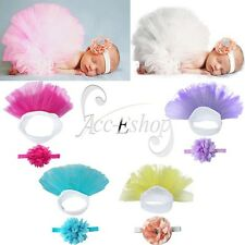 Cute Toddler Baby Girl Tutu Skirt &Headband Photo Prop Costume Outfit 0-3 Months