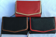 New Ladies Girls Fabretti Soft Real Leather  Purse Credit Card Holder Wallet