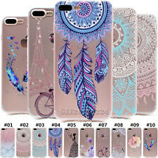 Ultra Slim Soft TPU Silicone Back Clear Fashion Skin Case Cover For Apple iPhone
