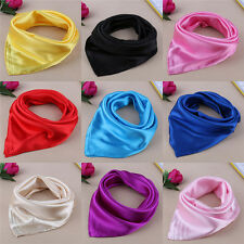 Women Lady Small Square Satin Silk Scarf Smooth Wrap Scarves Handkerchief Hot