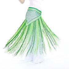 Belly Dance Costume Tribal Tassel hip scarf wrap belt Skirt Fringes 13 colors