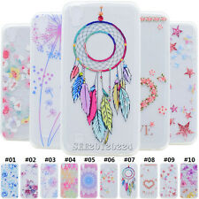 For LG Painted Rubber Transparent Soft TPU Skin Silicone Slim Back Case Cover