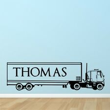 PERSONALISED LORRY TRUCK wall sticker bedroom kids boys wall decals