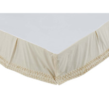 Adelia Creme Bed Skirt, Vintage Style Hand Pleated, Choice of Three Sizes