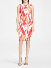 calvin klein womens geo print sheath dress