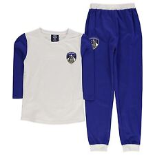 Team Kids Oldham Jersey Pyjama Set Junior Girls Long Sleeve Top Sleeping Bottoms