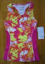 NWT UNDER ARMOUR DAZZLE TANK TOP FITTED TROPIC PINK SHIRT GIRLS SMALL YSM